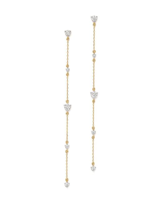 Adina Reyter Metallic 14k Yellow Gold Amigos Diamond Chain Drop Earrings