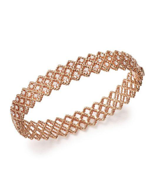 Roberto Coin - Multicolor 18k Rose Gold New Barocco Diamond Bangle - Lyst