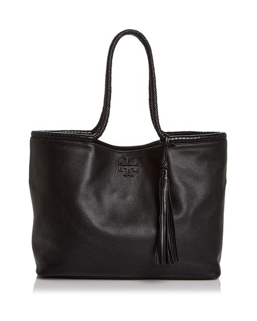 Tory Burch | Black Taylor Leather Tote | Lyst