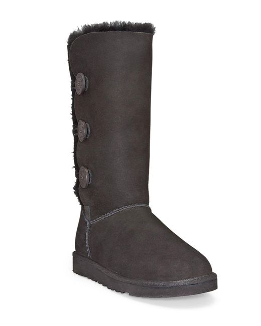 "Ugg | Black ""bailey Button Triplet"" Boots 