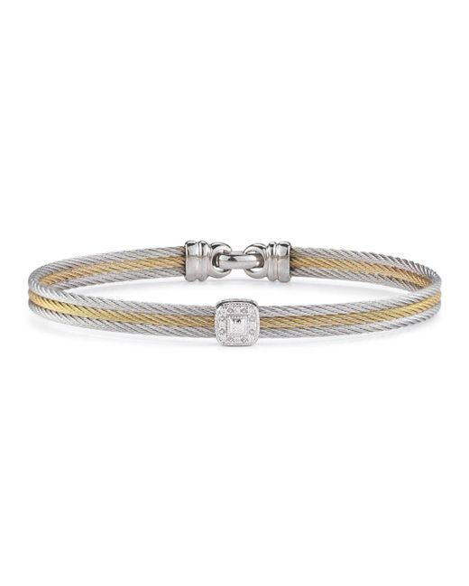 Alor - Multicolor Diamond Stacked Cable Bangle - Lyst
