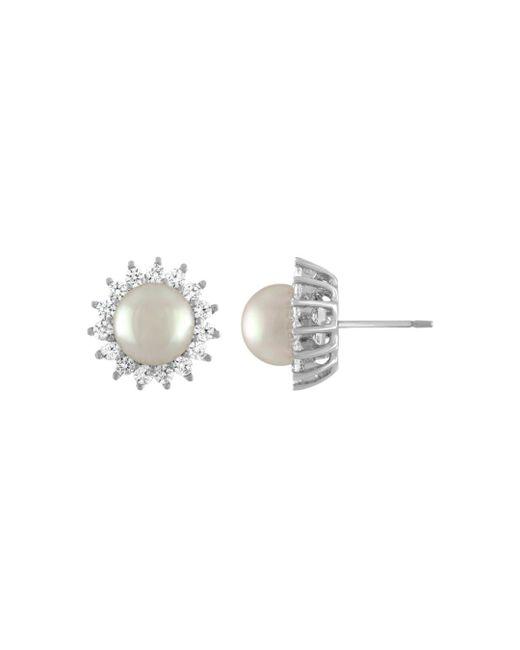Majorica - Multicolor Simulated Pearl Sunburst Stud Earrings - Lyst