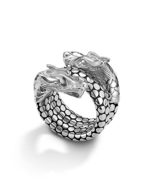 John Hardy Metallic Naga Sterling Silver Coil Ring