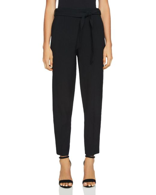 1.STATE - Black Waist-tie Tapered Pants - Lyst