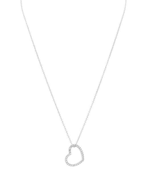 Aqua - Metallic Sterling Silver Heart Pendant Necklace - Lyst