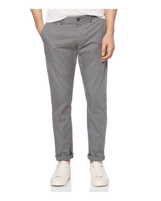 Original Penguin - Gray P55 Plaid Slim Fit Chinos for Men - Lyst