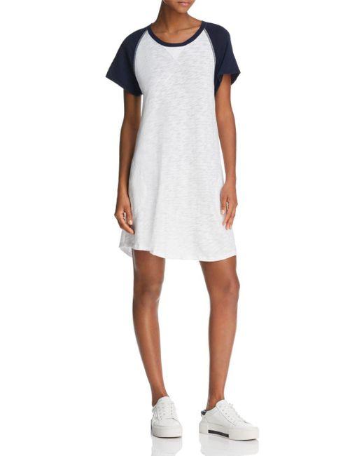 ATM - White Raglan T-shirt Dress - Lyst