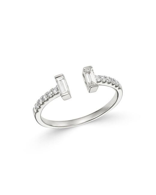 Bloomingdale's Round & Baguette Diamond Ring In 14k White Gold