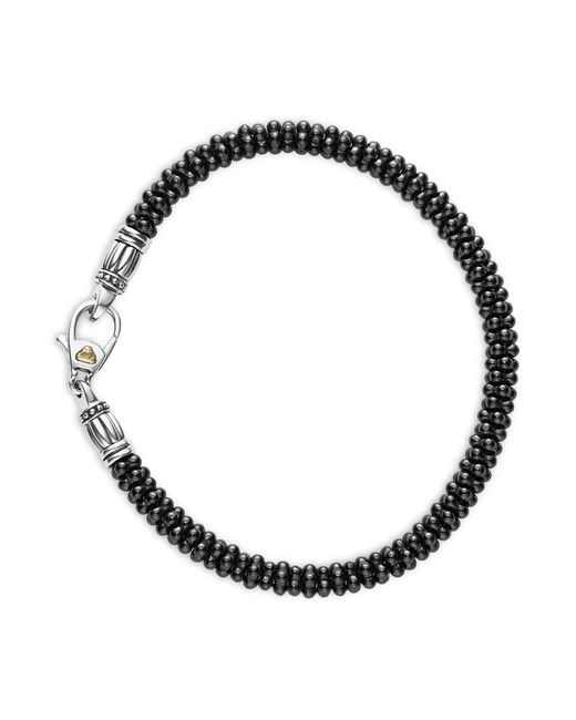Lagos - Black Caviar Gold Collection 18k Gold Beaded Bracelet - Lyst