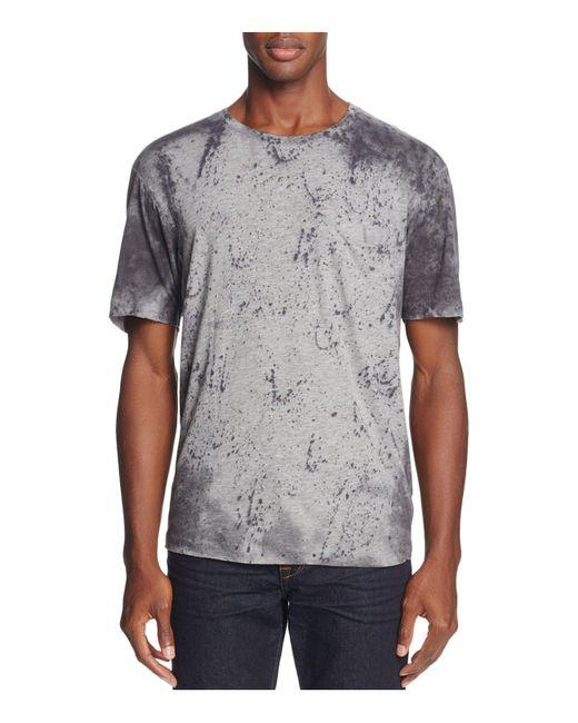 Joe's Jeans - Gray Splatter Print Crewneck Tee for Men - Lyst