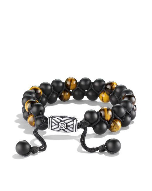 David Yurman | Spiritual Beads Two-row Bracelet With Black Onyx & Tiger's Eye | Lyst