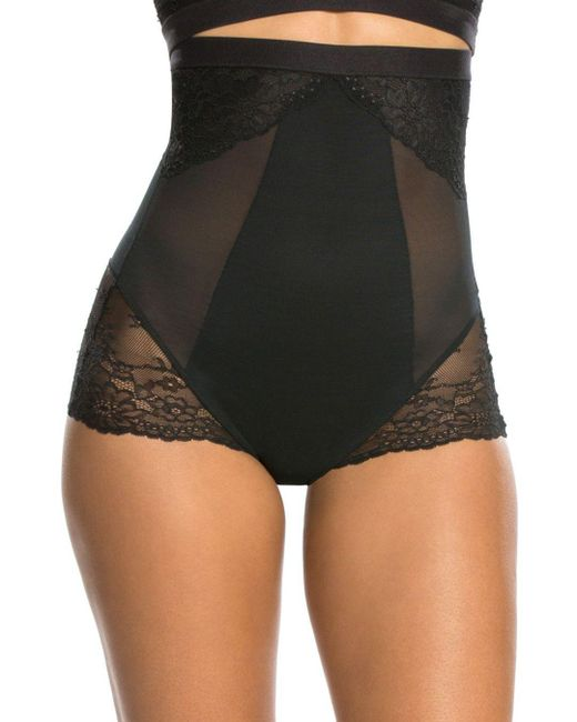 Spanx - Black Lace Col High Waisted Lace S - Lyst