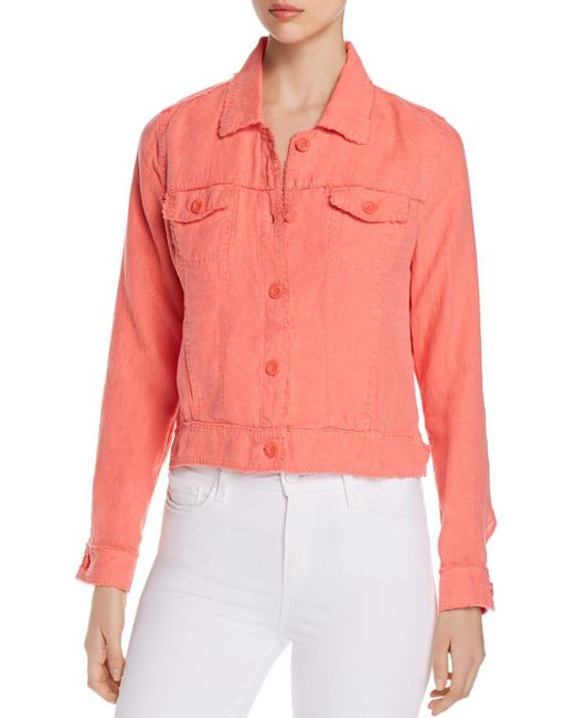 Tommy Bahama Pink Two Palms Raw - Edge Linen Jacket