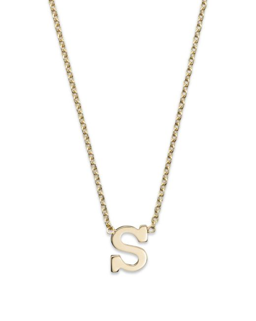 Zoe Chicco 14k Yellow Gold Initial Necklace
