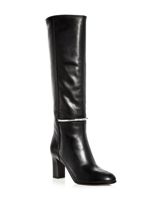 Via Spiga | Black Women's Shaw Leather Tall High Heel Boots | Lyst