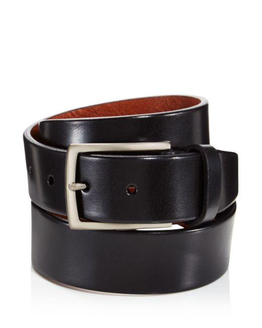 Trafalgar Black Men's Enrico Leather Belt for men