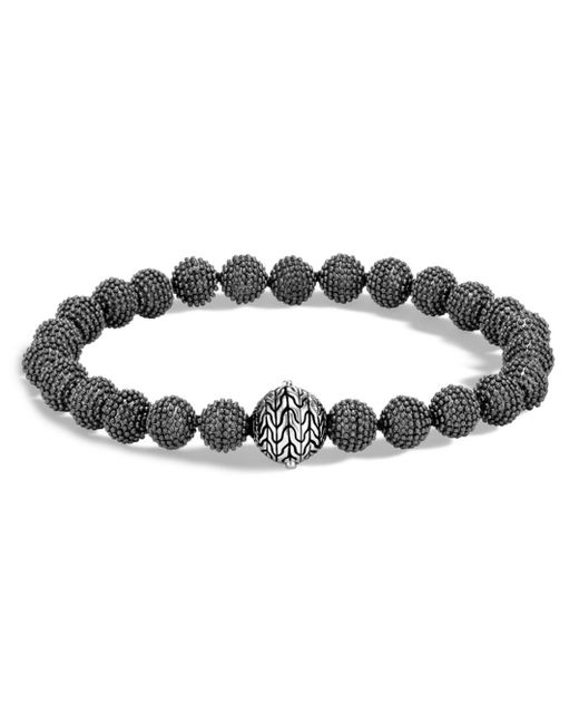 John Hardy - Men's Blackened Sterling Silver Classic Chain Jawan Beaded Bracelet for Men - Lyst