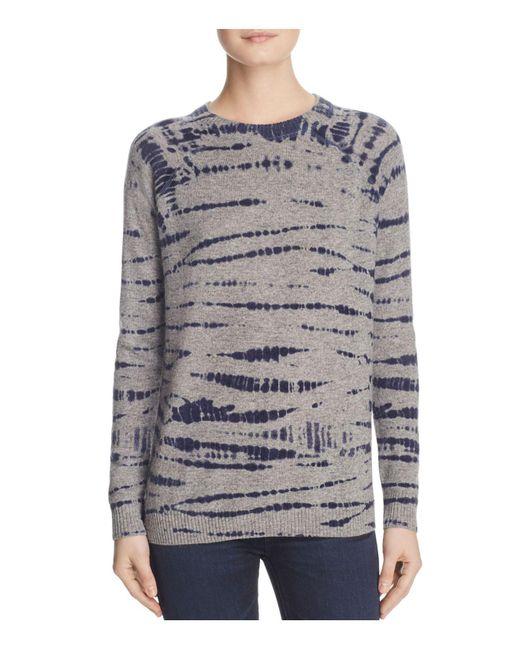 Aqua | Blue Cashmere Tie-dye Crewneck Sweater | Lyst