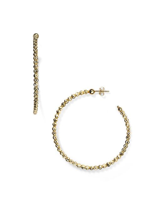 Officina Bernardi   Metallic Hoop Earrings   Lyst