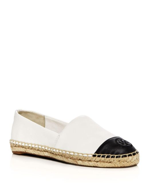 Tory Burch - Multicolor Women's Leather Color Block Espadrille Flats - Lyst