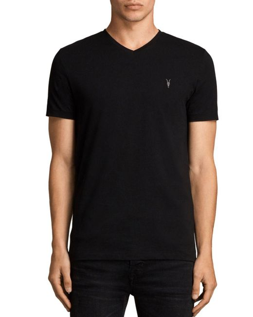AllSaints - Black Tonic V-neck T-shirt for Men - Lyst