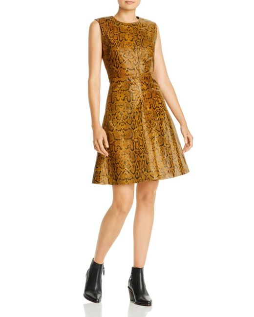 Notes Du Nord Multicolor Mercy Snake - Embossed Leather Dress