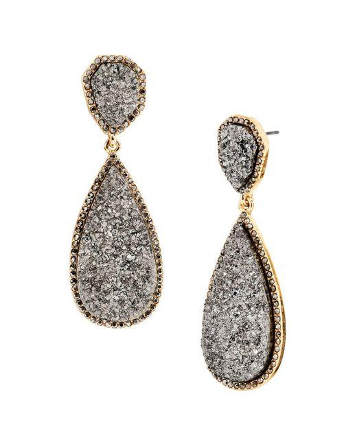 BaubleBar | Gray Moonlight Druzy Earrings | Lyst