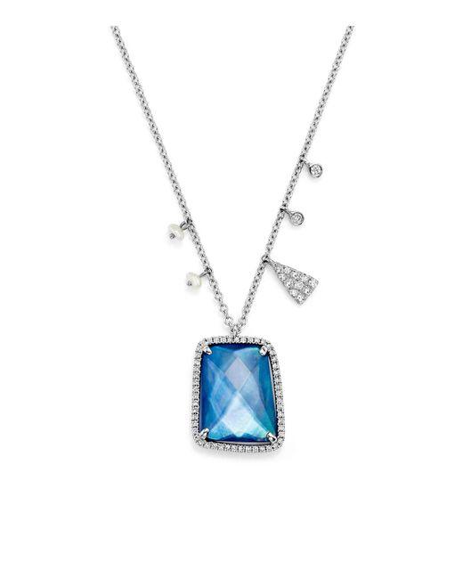 "Meira T | Blue 16"" | Lyst"