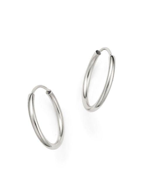 Bloomingdale's 14k White Gold Endless Hoop Earrings