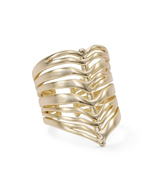 Kendra Scott - Metallic Liv Cage Ring - Lyst