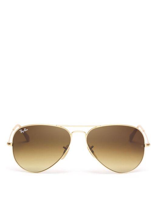 Ray-Ban Brown Ray - Ban Unisex Original Brow Bar Aviator Sunglasses