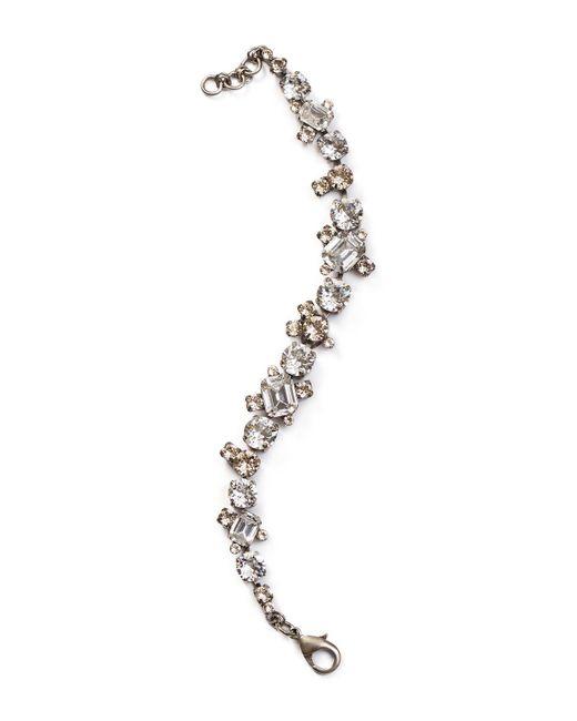 Sorrelli - Metallic Crystal Tennis Bracelet - Lyst