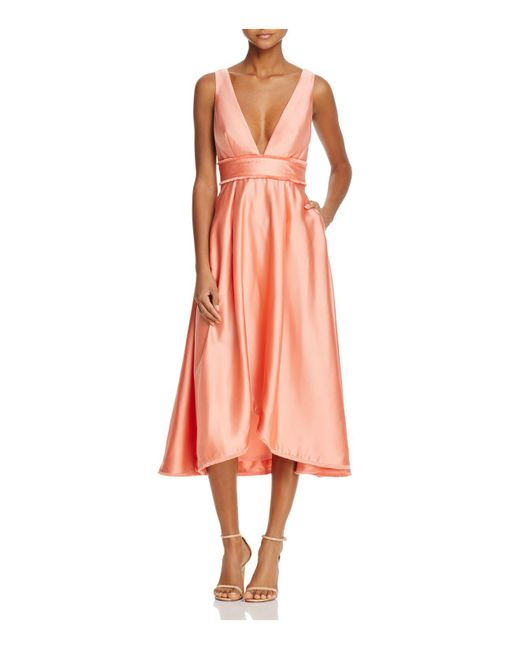 La Maison Talulah   Pink La Maison V-neck Midi Dress   Lyst
