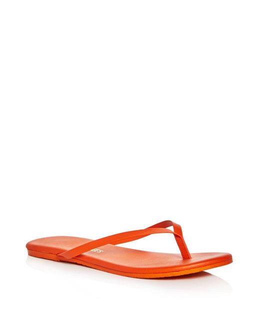 TKEES - Red Solids Flip-flops - Lyst