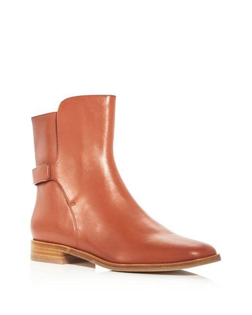 Via Spiga | Brown Women's Vaughan Leather Booties | Lyst