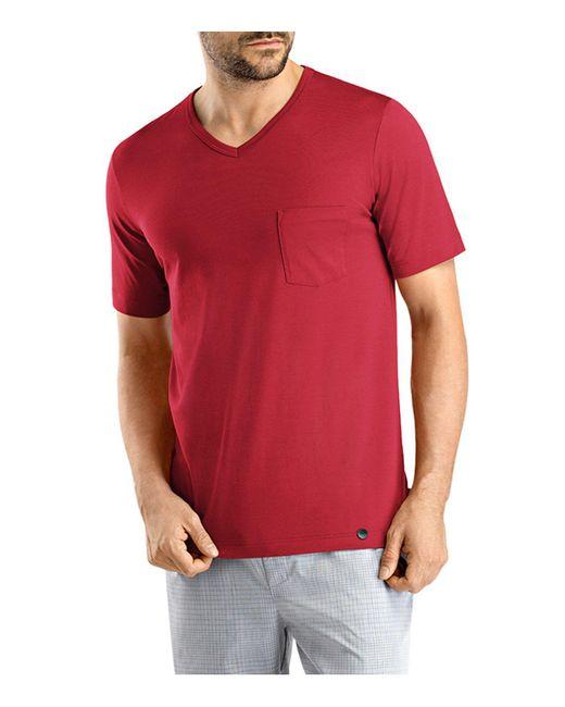 Hanro | Red Night & Day V-neck Tee for Men | Lyst