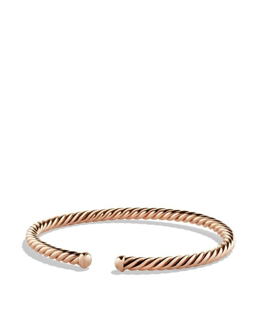 David Yurman - Pink Precious Cable Cablespira Bracelet In Rose Gold - Lyst