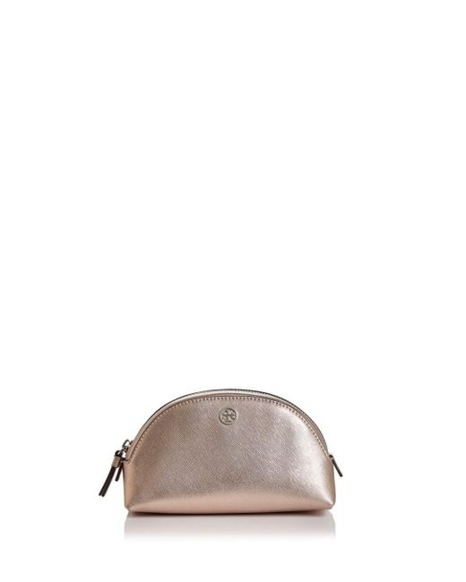 Tory Burch - Multicolor Robinson Small Saffiano Leather Makeup Pouch - Lyst