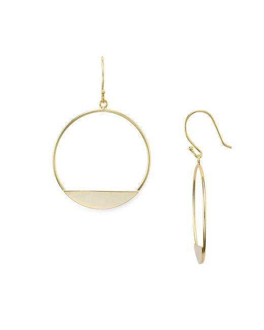 Aqua | Metallic Circle Drop Earrings | Lyst