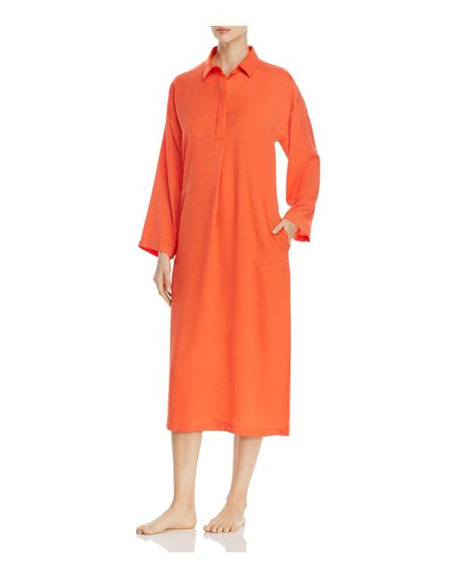 DKNY | Orange Long Sleeve Sleepshirt | Lyst