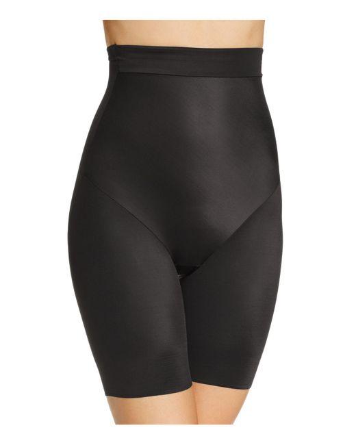 Tc Fine Intimates - Black Firm Control Hi-waist Thigh Slimmer - Lyst