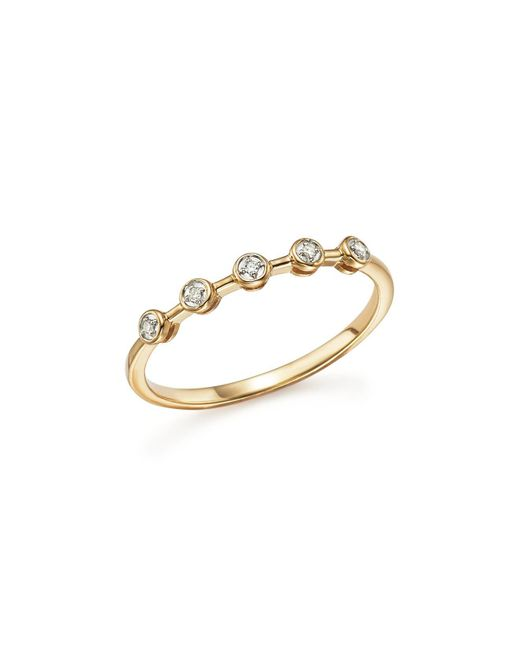 Adina Reyter - Metallic 14k Yellow Gold Five Bezel Diamond Ring - Lyst