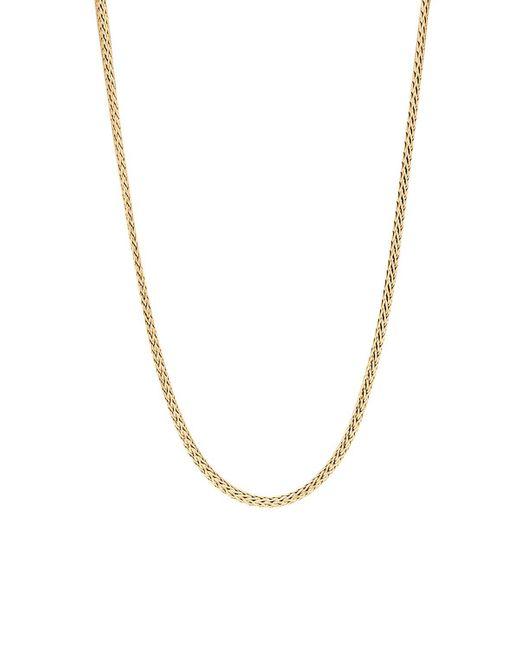 "John Hardy | Metallic Classic Chain 18k Yellow Gold Mini Necklace, 18"" | Lyst"