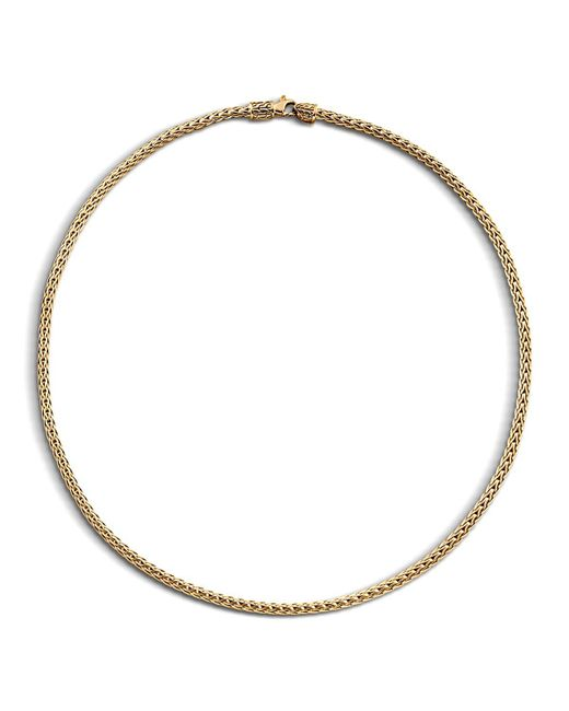 "John Hardy | Metallic Classic Chain 18k Yellow Gold Slim Necklace, 18"" | Lyst"