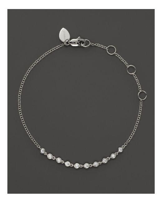 Meira T | 14k White Gold Diamond Bezel Bracelet | Lyst