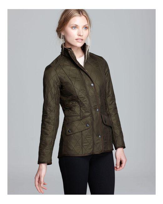 Barbour | Green Cavalry Polarquilt Jacket | Lyst
