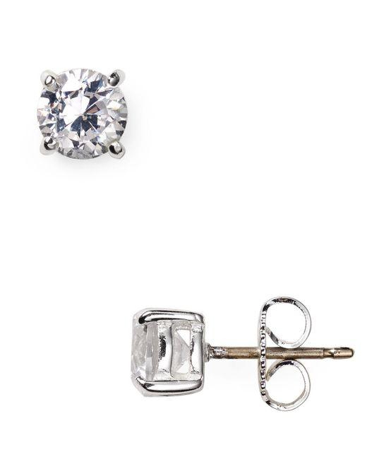 Carolee | Metallic Medium Cubic Zirconia Stud Earrings | Lyst