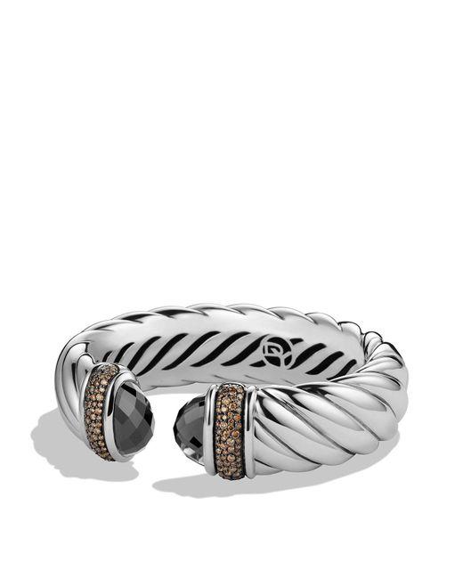 David Yurman | Metallic Waverly Bracelet With Hematine & Gray Diamonds | Lyst