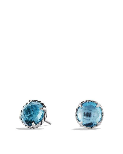 David Yurman | Châtelaine Earrings With Blue Topaz | Lyst
