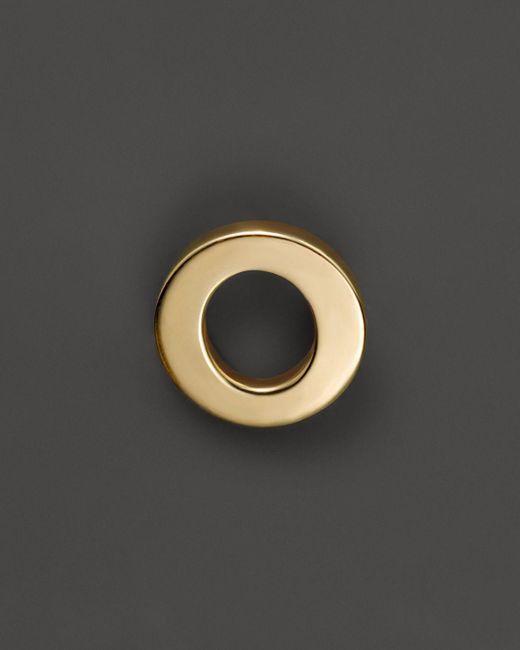 Zoe Chicco | 14k Yellow Gold Single Initial Stud Earring | Lyst